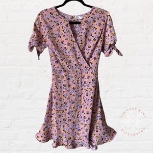 BAND OF GYPSIES Floral Dress Lavender Size Small